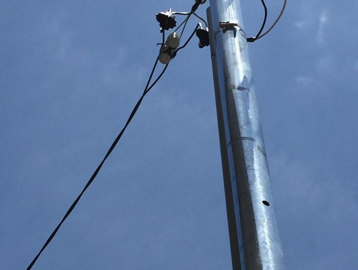 あま市で防犯カメラ用の電気引き込み工事