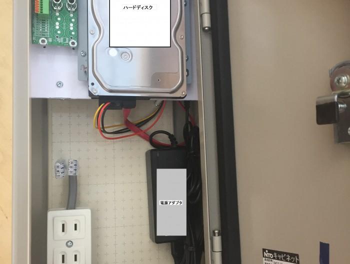 街頭防犯 録画機収納ボックス HDD