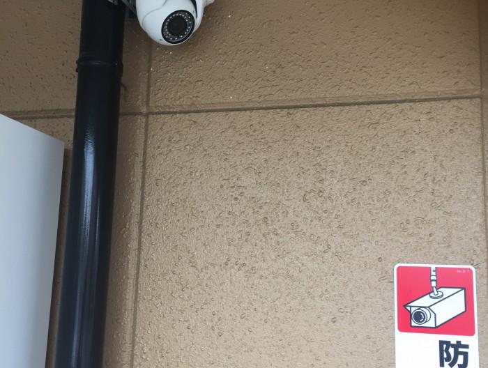 津島市のマンションに防犯カメラを設置
