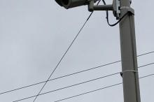 東海市の駐車場に防犯カメラを設置