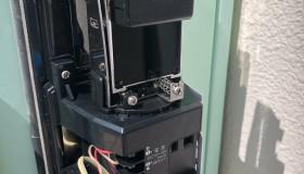 安城市の工場で赤外線センサーの交換