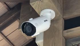 津島市のお寺に防犯カメラを設置