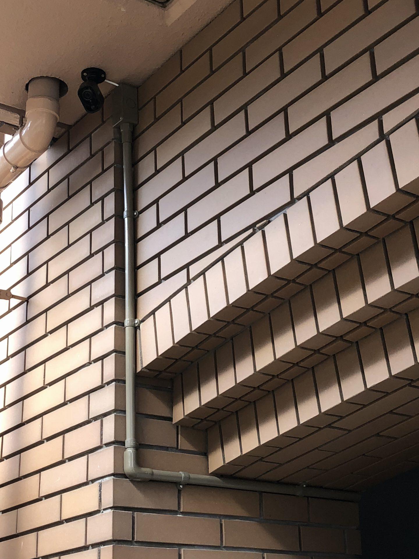 一宮市のマンションに防犯カメラを設置