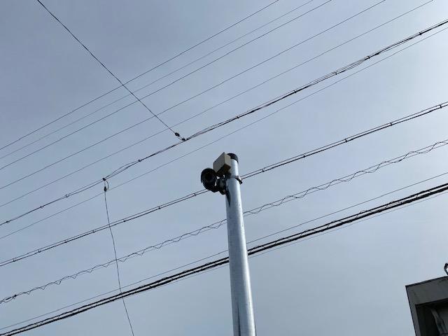 一宮市の駐車場に防犯カメラを設置